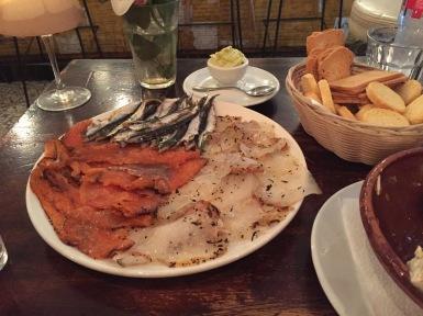 Pescados marinados y boquerones