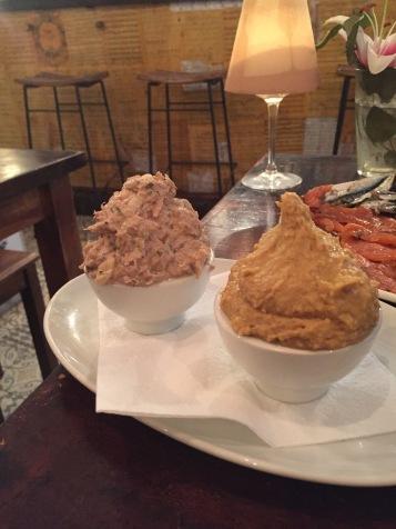 Ensaladilla rusa y Hummus